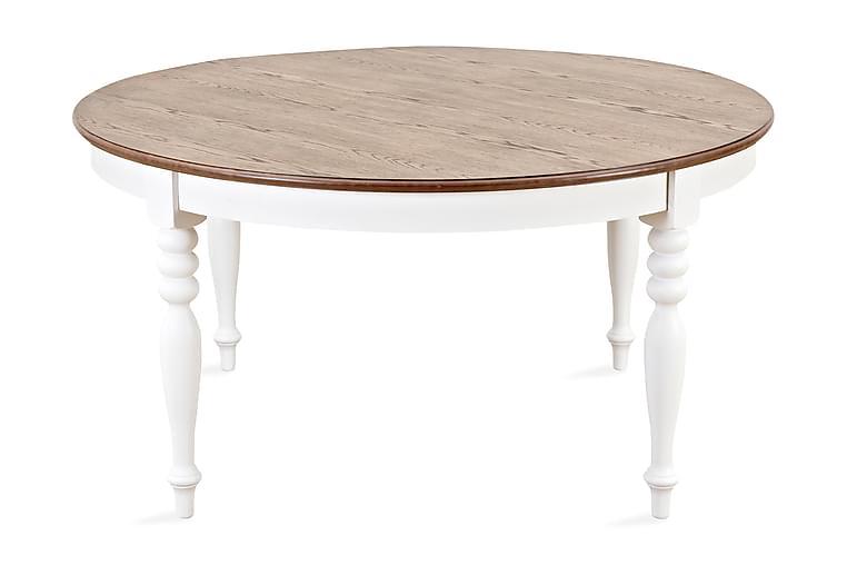 Ruokapöytä Vermont Mahonkiviilu - Valkoinen/Mahonkiviilu - Huonekalut - Pöydät - Ruokapöydät & keittiön pöydät