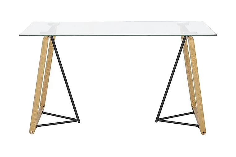 Ruokapöytä Wauna 140 cm - Lasi / vaaleanruskea / musta - Huonekalut - Pöydät - Ruokapöydät & keittiön pöydät