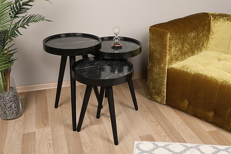 Sarjapöytä Knista - Musta - Huonekalut - Pöydät - Sohvapöydät