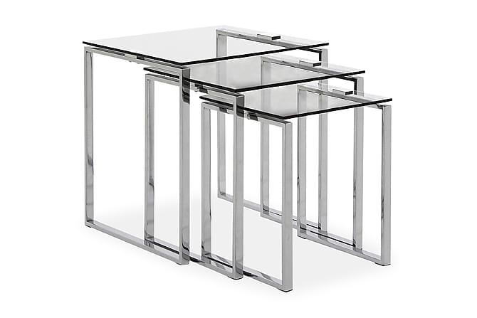 Sarjapöytä Tamara 50 cm - Lasi/Kromi - Huonekalut - Pöydät - Sarjapöydät
