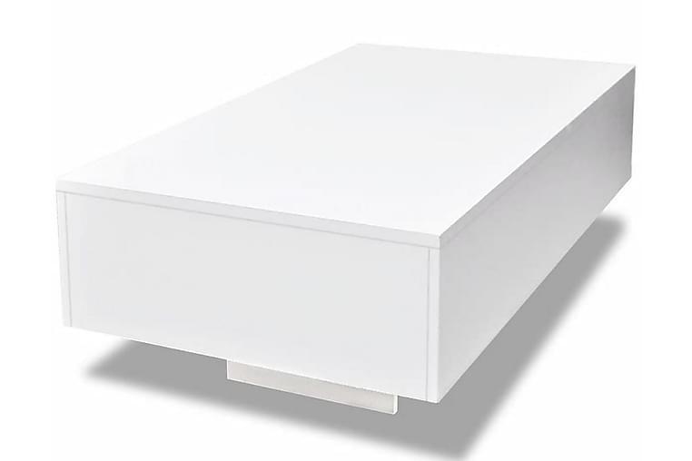 Kahvipöytä Korkeakiilto Valkoinen - Valkoinen - Huonekalut - Pöydät - Sohvapöydät