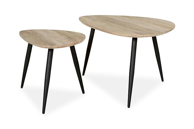 Sarjapöytä Valerius 90/60 cm - Harmaa/Musta - Huonekalut - Pöydät - Sohvapöydät