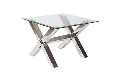 Sivu/Sohvapöytä Vacker 63 cm Lasi/kromi