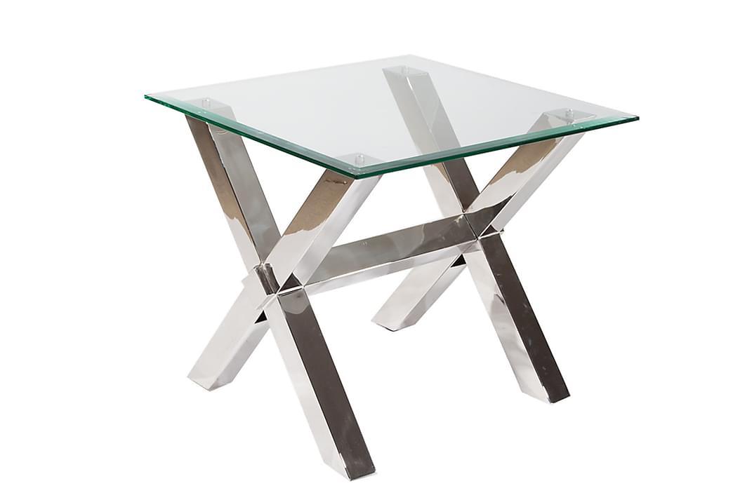 Sivu/Sohvapöytä Vacker 63 cm Lasi/kromi - Lasi/Kromi - Huonekalut - Pöydät - Sohvapöydät