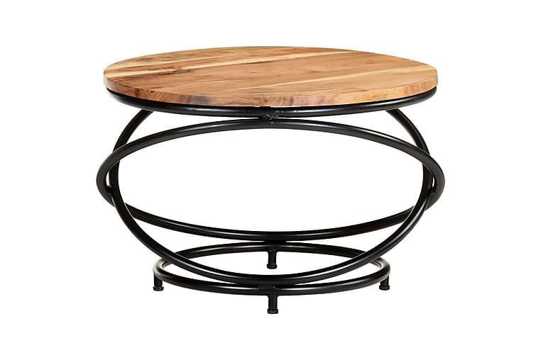 Sohvapöytä 60x60x40 cm täysi akaasiapuu - Ruskea - Huonekalut - Pöydät - Sohvapöydät