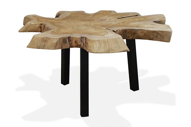 Sohvapöytä 80x70x38 cm aito tiikki - Ruskea - Huonekalut - Pöydät - Sohvapöydät