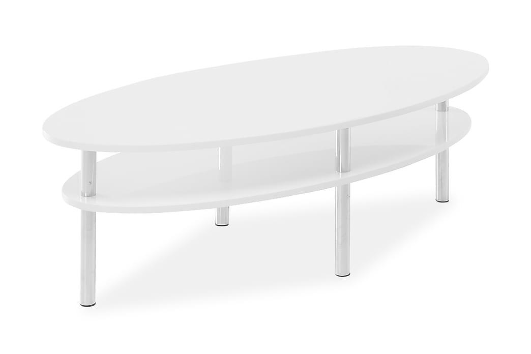 Sohvapöytä Alpen 140 cm Ovaali - Valkoinen - Huonekalut - Pöydät - Sohvapöydät