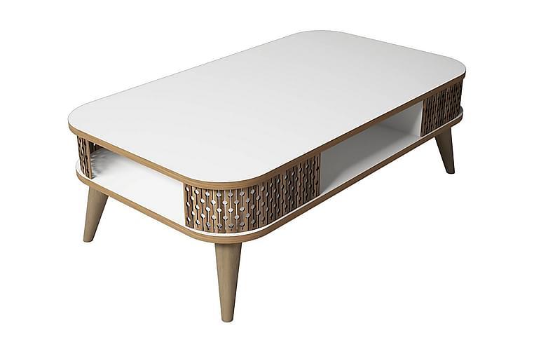 Sohvapöytä Amtorp 105 cm - Valkoinen - Huonekalut - Pöydät - Sohvapöydät