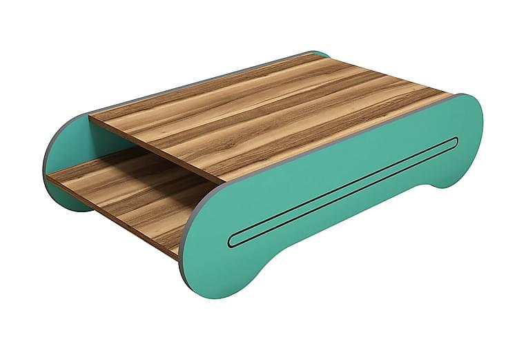 Sohvapöytä Amtorp 120 cm - Ruskea/Turkoosi - Huonekalut - Pöydät - Sohvapöydät