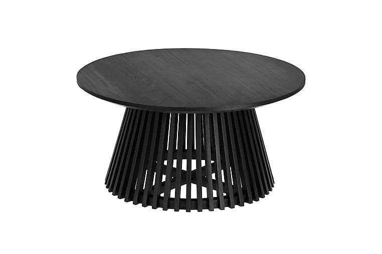 Sohvapöytä Behobia 80 cm pyöreä - Musta puu - Huonekalut - Pöydät - Sohvapöydät