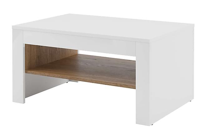 Sohvapöytä Bermont 110 cm - Valkoinen/Puu - Huonekalut - Pöydät - Sohvapöydät