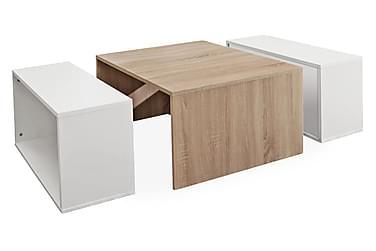 Sohvapöytä Casimir Valkoinen/Tammi
