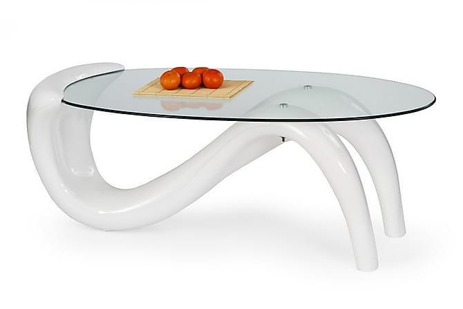Sohvapöytä Caswell 127x65 cm Lasi - Valkoinen - Huonekalut - Pöydät - Sohvapöydät