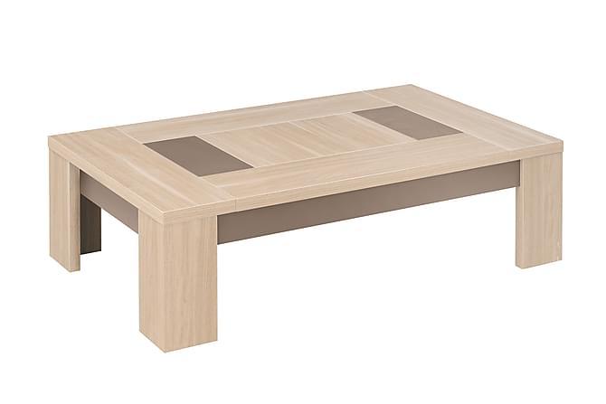 Sohvapöytä Cyra 80 cm - Beige/Ruskea - Huonekalut - Pöydät - Sohvapöydät