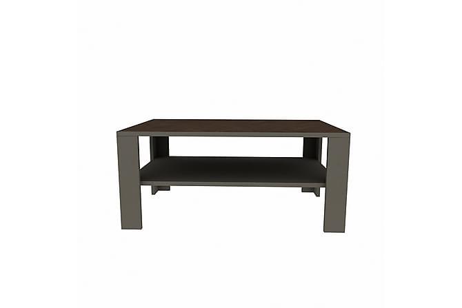 Sohvapöytä Dumö 90 cm - Harmaa/Ruskea - Huonekalut - Pöydät - Sohvapöydät