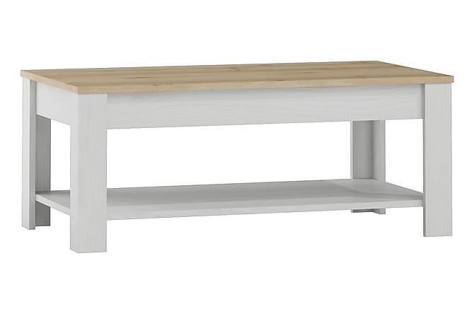 Sohvapöytä Elicia 110 cm - Valkoinen/Vaalea puu - Huonekalut - Pöydät - Sohvapöydät