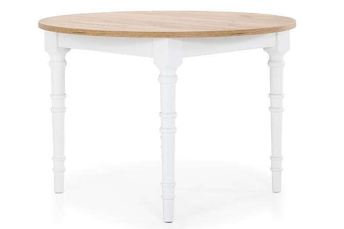 Sohvapöytä Erin 80 cm Pyöreä - Valkoinen/Puu - Huonekalut - Pöydät - Sohvapöydät