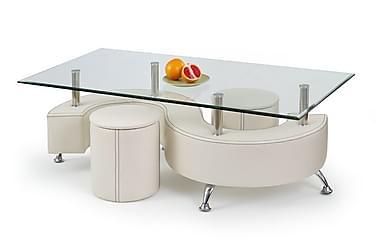 Sohvapöytä Giardina raheilla 140x70 cm Lasi