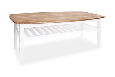Sohvapöytä Grenå 130 cm Ovaali Tammi/Valkoinen