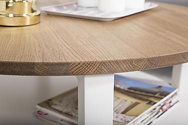 Sohvapöytä Gullstrand 80 cm Pyöreä Tammi/Valkoinen