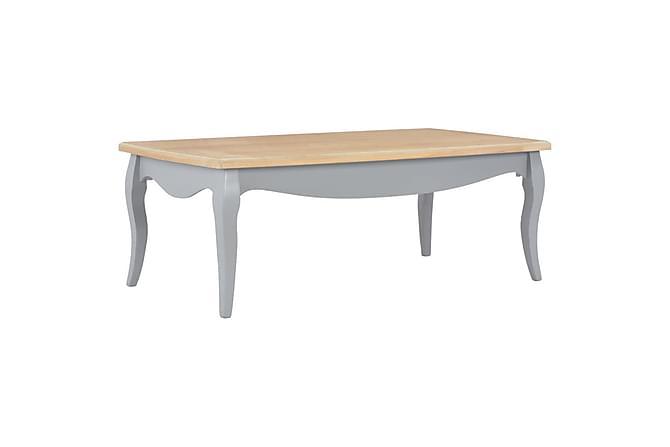 Sohvapöytä harmaa ja ruskea 110x60x40 cm täysi mänty - Harmaa - Huonekalut - Pöydät - Sohvapöydät