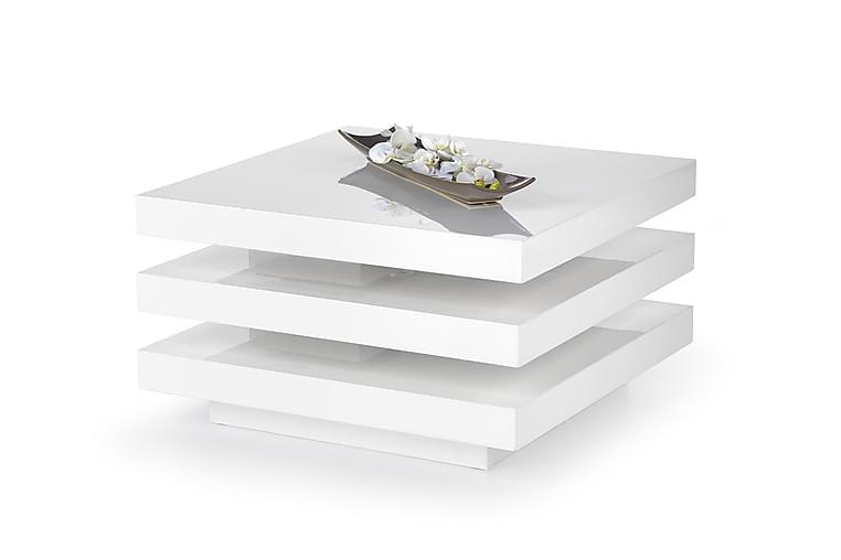 Sohvapöytä Hillen 80 cm - Valkoinen - Huonekalut - Pöydät - Sohvapöydät