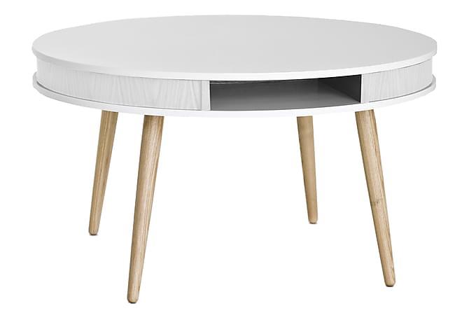 Sohvapöytä Igino 90 cm - Valkoinen/Tammi - Huonekalut - Pöydät - Sohvapöydät