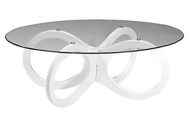 Sohvapöytä Laholm 120 cm Ovaali Lasi/Valkoinen