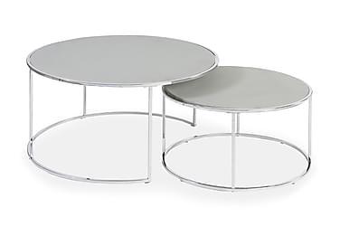 Sohvapöytä Lens 2-pak 60|80 cm Kromi/Harmaa