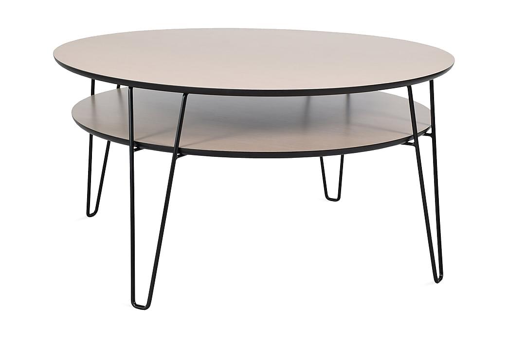 Sohvapöytä Leon 100 cm Ovaali - Tammi/Musta - Huonekalut - Pöydät - Sohvapöydät