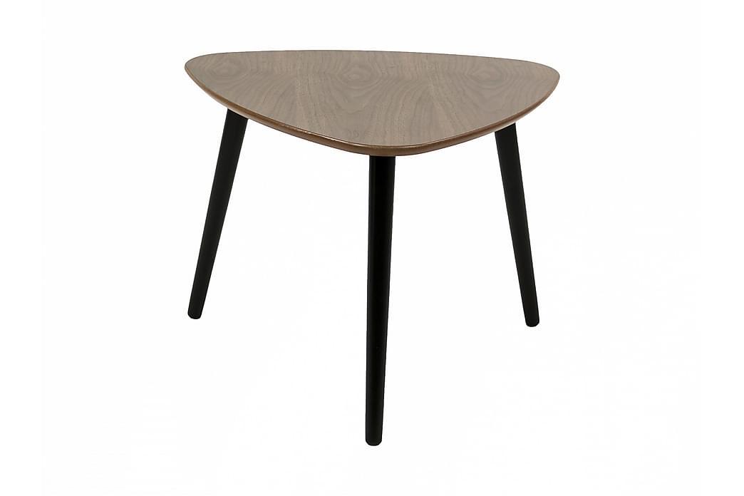 Sohvapöytä Lovitz 62 cm Ovaali - Pähkinä/Musta - Huonekalut - Pöydät - Sohvapöydät