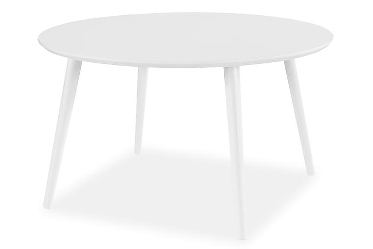 Sohvapöytä Lovitz 90 cm Pyöreä - Valkoinen - Huonekalut - Pöydät - Sohvapöydät