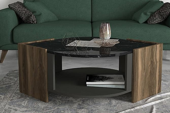 Sohvapöytä Mathon 75 cm - Pähkinä/Harmaa/Musta - Huonekalut - Pöydät - Sohvapöydät
