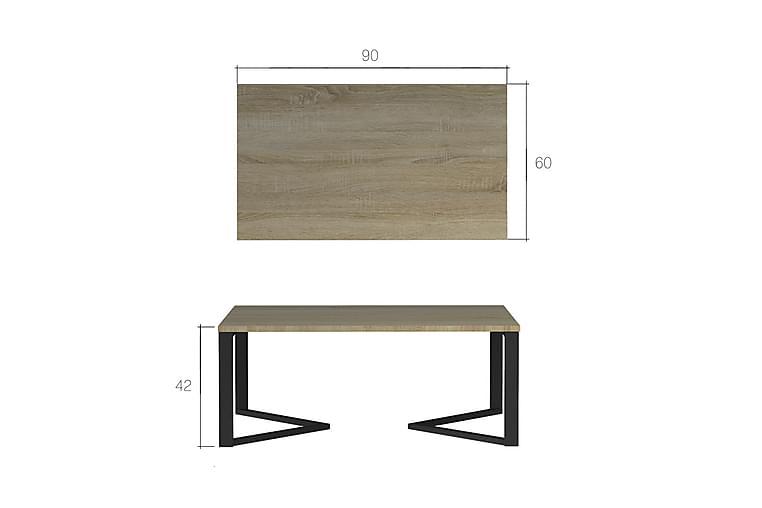 Sohvapöytä Mave 90 cm - Valkoinen - Huonekalut - Pöydät - Sohvapöydät