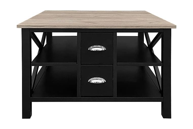 Sohvapöytä Mikael 80 cm - Musta/Harmaa - Huonekalut - Pöydät - Sohvapöydät