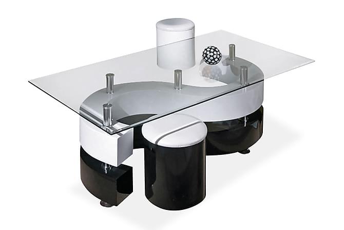 Sohvapöytä Mintz 130 cm - Valkoinen/Musta - Huonekalut - Pöydät - Sohvapöydät