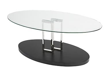 Sohvapöytä Monza 120 cm Lasi Läpinäkyvä/Musta