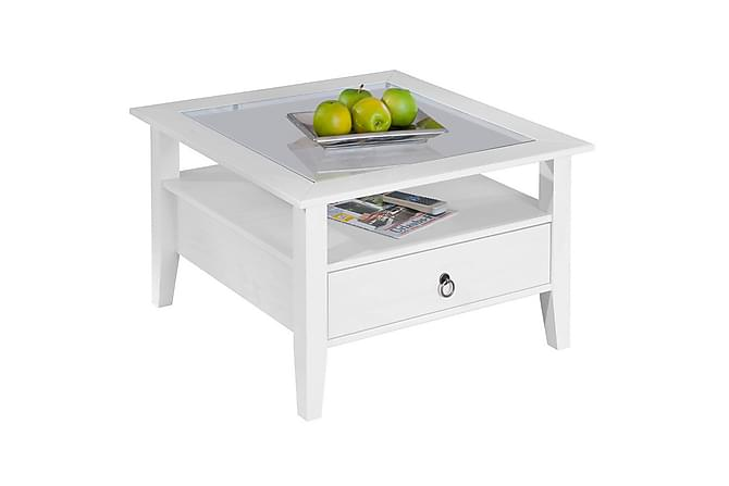 Sohvapöytä Narcian 75 cm - Valkoinen - Huonekalut - Pöydät - Sohvapöydät