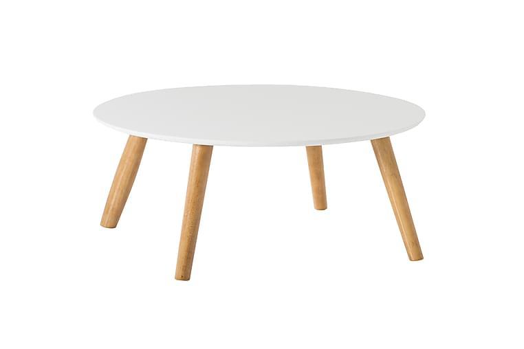Sohvapöytä Novalie 58 cm Pyöreä - Valkoinen - Huonekalut - Pöydät - Sohvapöydät