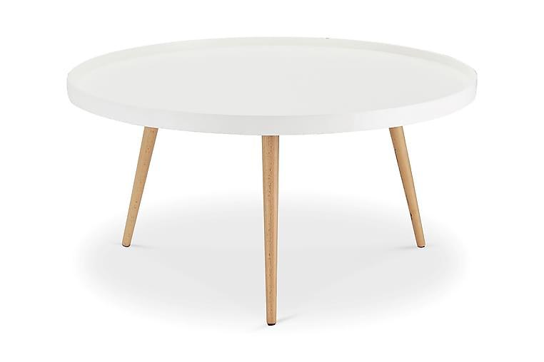 Sohvapöytä Opus 90 cm Pyöreä - Valkoinen - Huonekalut - Pöydät - Sohvapöydät