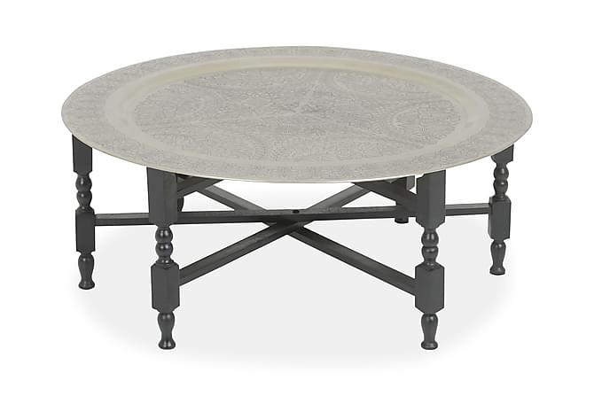 Sohvapöytä Pollux 89 cm - Musta/Hopea - Huonekalut - Pöydät - Sohvapöydät