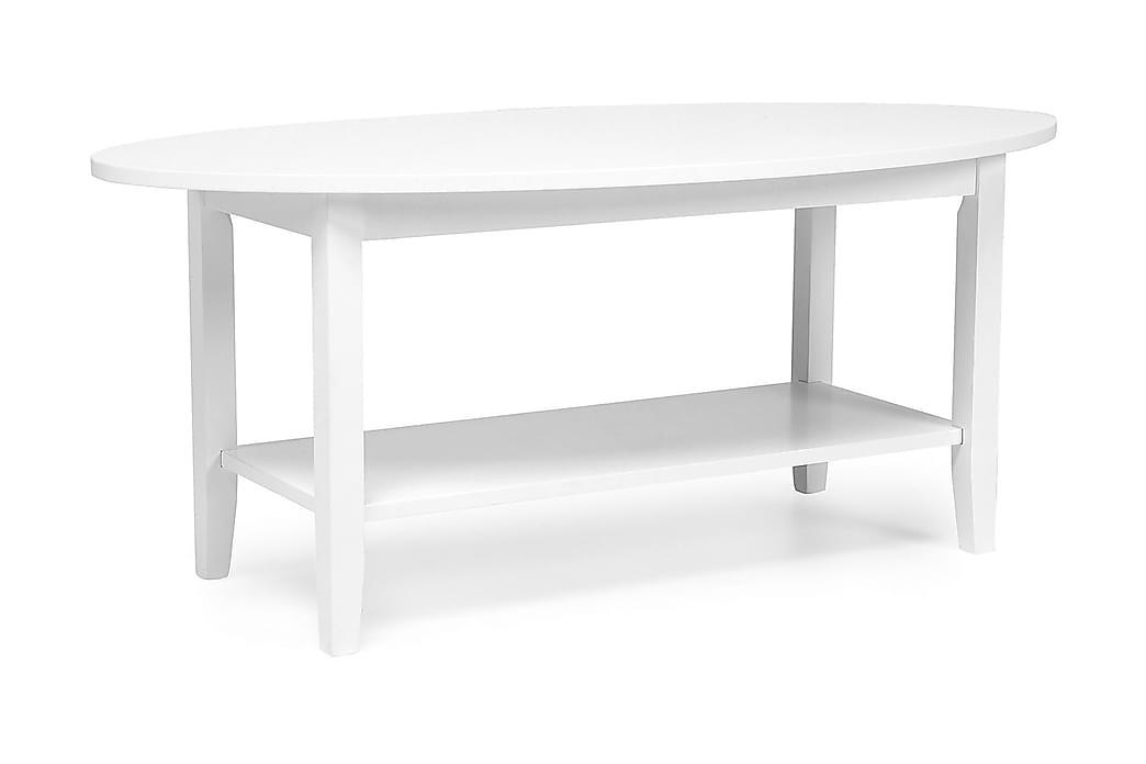 Sohvapöytä Ragnhild 120 cm Ovaali - Valkoinen - Huonekalut - Pöydät - Sohvapöydät