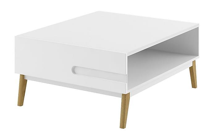 Sohvapöytä Reyka 97 cm - Valkoinen/Tammi - Huonekalut - Pöydät - Sohvapöydät
