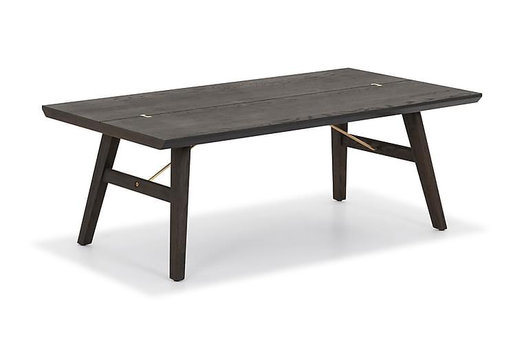 Sohvapöytä Ryndon 120 cm Massiivitammi - Ruskea - Huonekalut - Pöydät - Sohvapöydät
