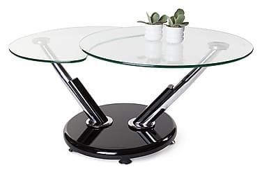 Sohvapöytä Sintra 110 cm Ovaali Lasi/kromi