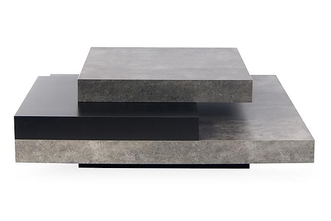 Sohvapöytä Slate 90 cm - Musta/Betoni - Huonekalut - Pöydät - Sohvapöydät