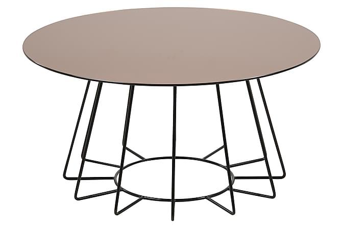 Sohvapöytä Sonja 80 cm Pyöreä - Ruskea/Musta - Huonekalut - Pöydät - Sohvapöydät