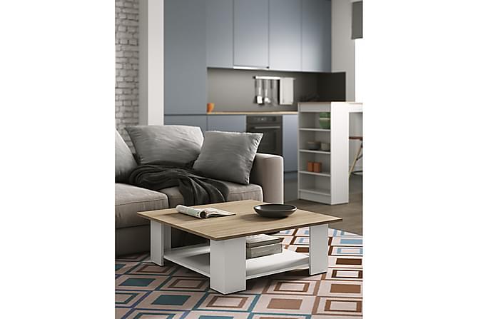 Sohvapöytä Square 89 cm - Puu/Valkoinen - Huonekalut - Pöydät - Sohvapöydät