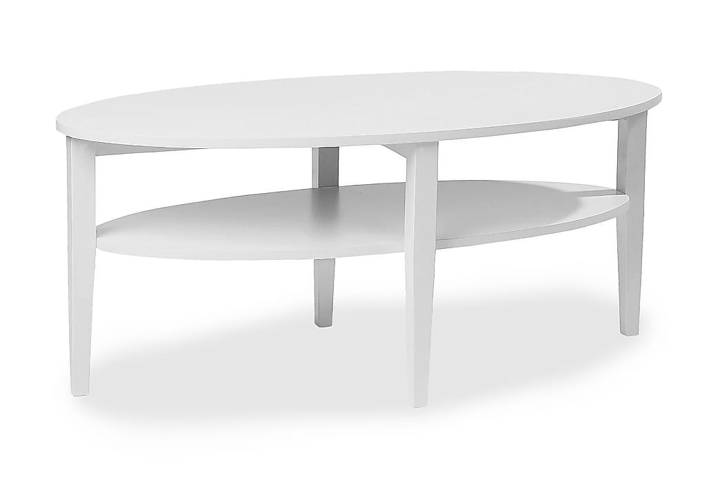 Sohvapöytä Svedjan 120 cm Ovaali Valkoinen - Valkoinen - Huonekalut - Pöydät - Sohvapöydät