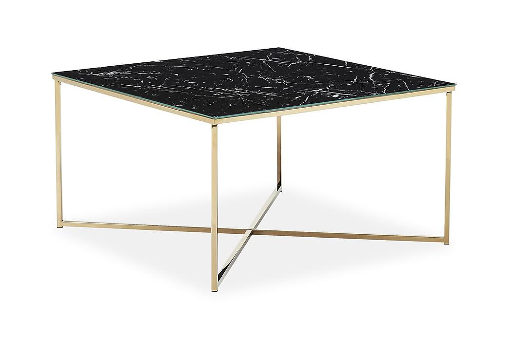 Sohvapöytä Valeria - Musta/Messinki - Huonekalut - Pöydät - Sohvapöydät